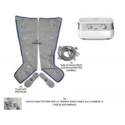 PRESSOTERAPIA I-PRESS 4 VERSIONE LEG2 - 4 CAMERE - CON GAMBALI E PLANTARI
