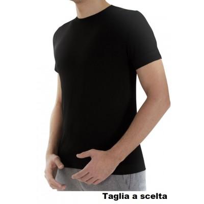 T-SHIRT SPORTIVA FITERGY - ALLEVIA IL DOLORE - NERO