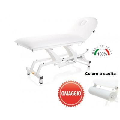 LETTINO PER VISITA MEDICA IDRAULICO - Piano da 90cm - PORTAROTOLO