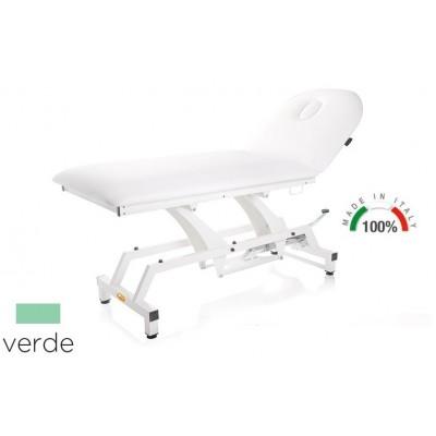 LETTINO PER VISITA MEDICA IDRAULICO - MORETTI Mod.Lytus - Piano da 90cm - Colore VERDE