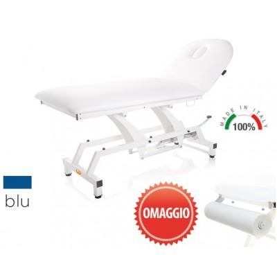 LETTINO PER VISITA MEDICA IDRAULICO - MORETTI Mod.Lytus - Piano da 90cm - Colore BLU - PORTAROTOLO IN OMAGGIO