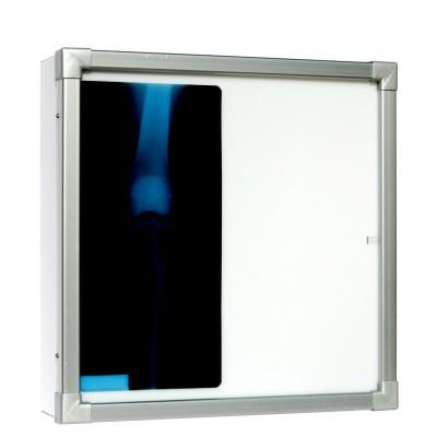 NEGATIVOSCOPIO ORIZZONTALE - DIAFANOSCOPIO VERNICIATO - 42X42 cm