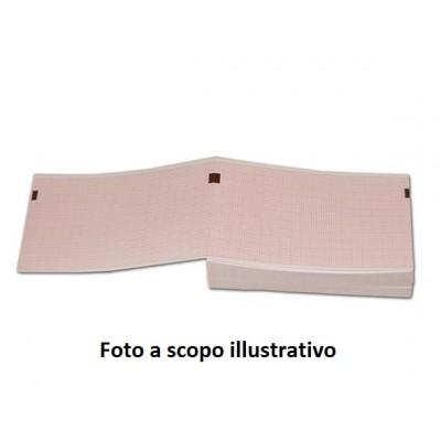 CARTA TERMICA PER ECG FUKUDA 501 A/ HR500/DS-5300 (Bianco) - 50x75 mm - Conf. 100 pz da 400 fogli cad.