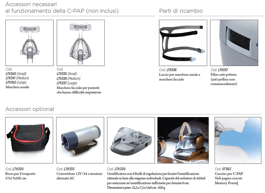 ltk310-A-PAP-TERAPIA-RESPIRO-PRESSIONE-AUTOMATICA-OPTIONAL