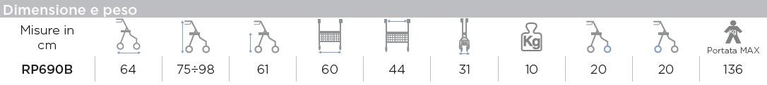 dimensioni deambulatore-rollatore-rp690-b